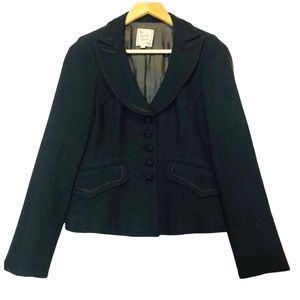 Nanette Lepore Dark Navy Wool Blend Blazer 2